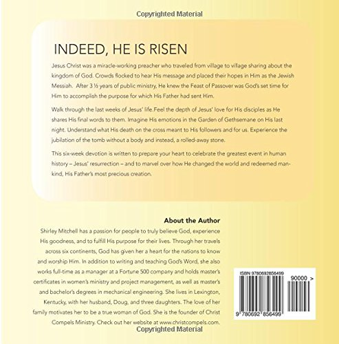 Indeed, He Is Risen Book Rear Cover